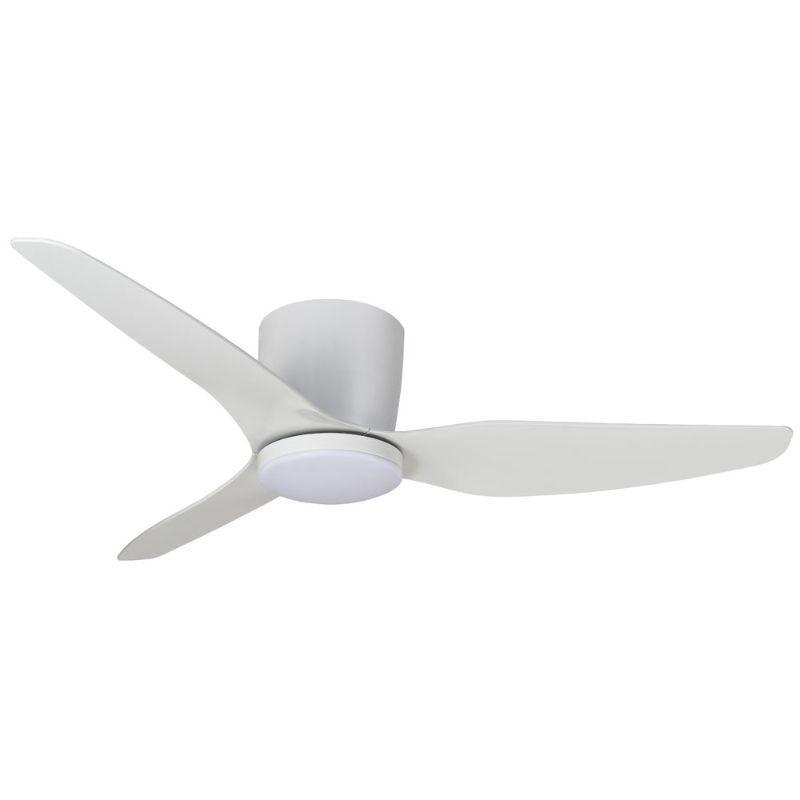 Ventilador de techo con luz blanco ECOFAN Kobe - 127cm / AC / Techos bajos