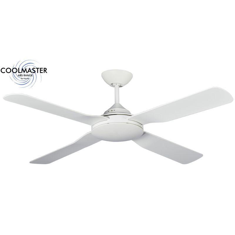 Ventilador de techo sin luz blanco ECOFAN Escobar IP55 - 140cm / AC / Apto para exteriores