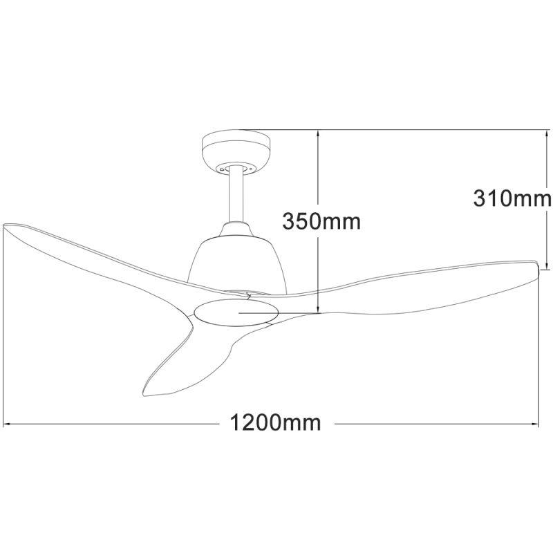 Ventilador de techo ECOFAN Traffic - 122cm / AC / Aspas ABS aerodinámicas