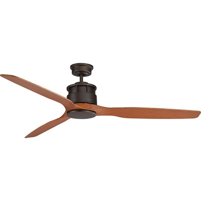 Ventilador de techo sin luz ECOFAN Mocca - 152cm / AC / Aspas de madera