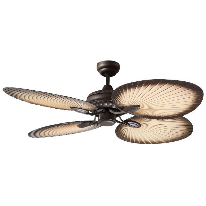 Ventilador de techo sin luz ECOFAN Tropical - 132CM / AC / Estilo colonial