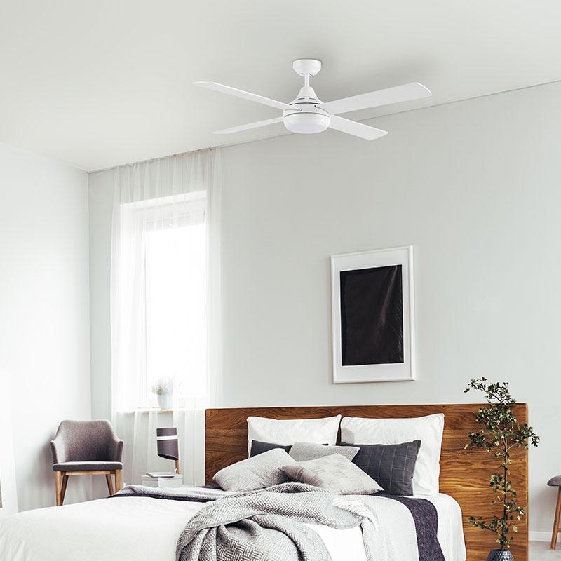 Ventilador de techo sin luz ECOFAN Tudea - 122cm / DC / Acero inoxidable