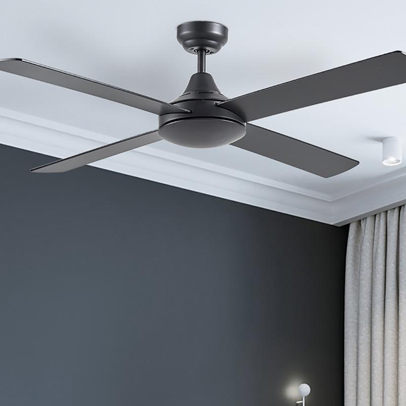 Ventilador de techo sin luz ECOFAN Tudea - 122cm / DC / Negro / Acero inoxidable
