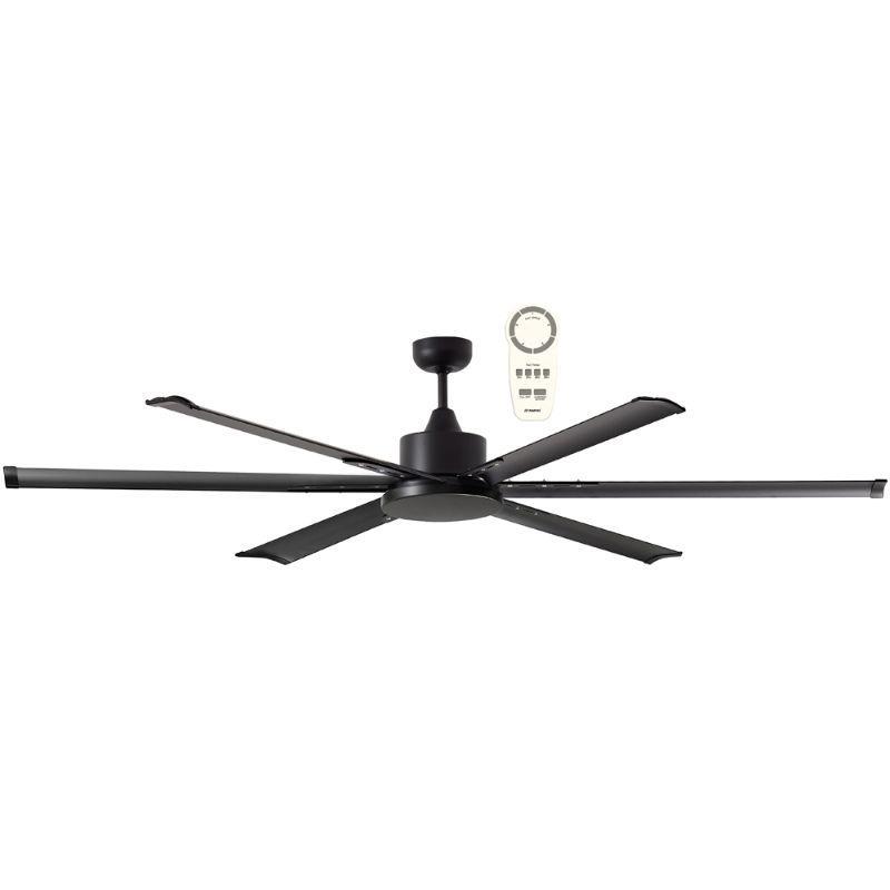 Ventilador de techo grande ECOFAN Big Nord - 180cm / DC / Gran caudal de aire / Negro
