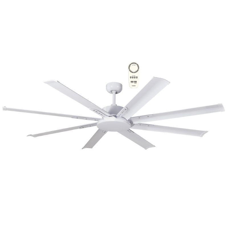 Ventilador de techo grande ECOFAN Nord - 165cm / DC / Gran caudal de aire / Blanco